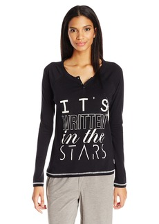 PJ Salvage Women's Clasically Cool Stars Henley Shirt  L