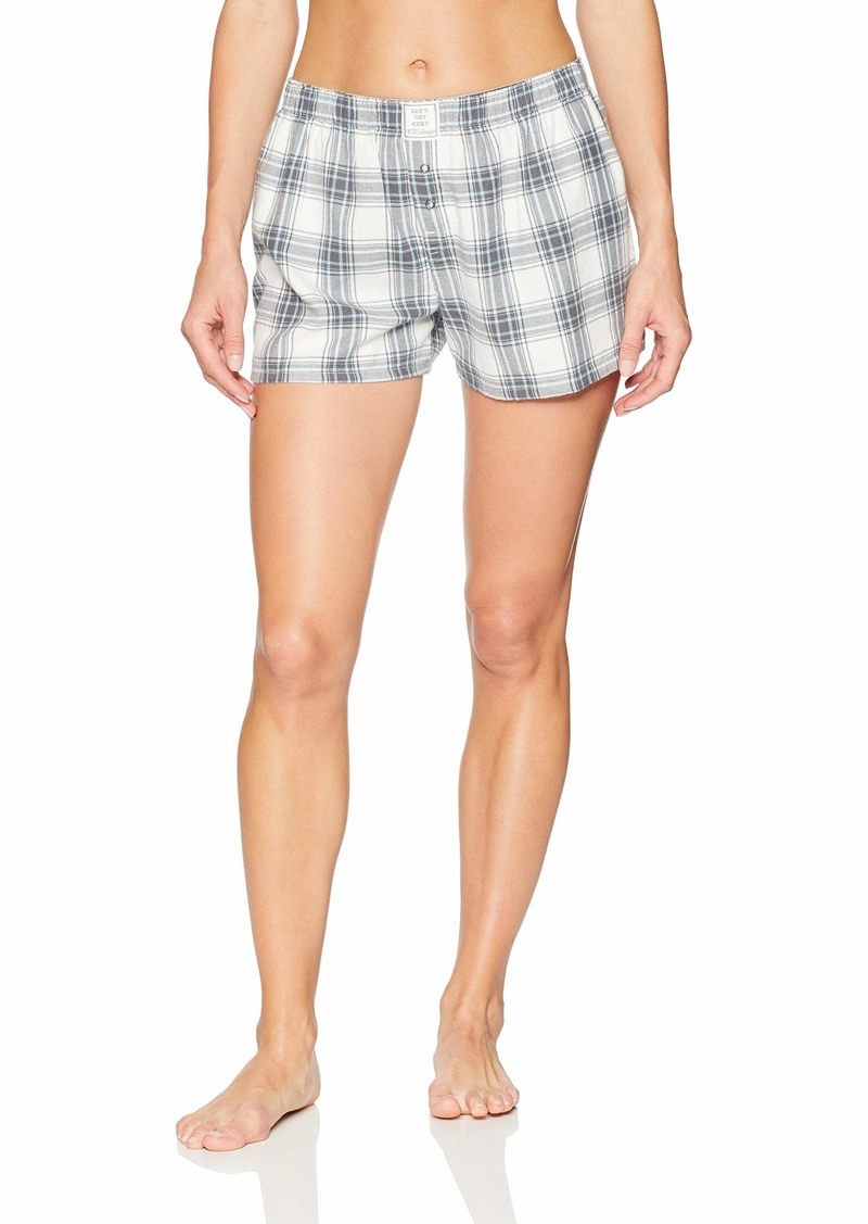 PJ Salvage Women's Cozy Lounge Flannel Short