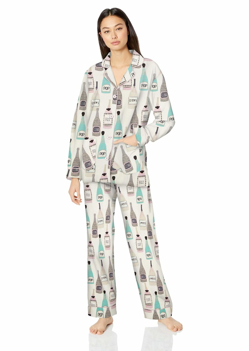 PJ Salvage Women's Long Sleeve Cozy Printed Flannel Pajama Set Pj