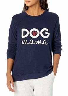 PJ Salvage Women's Loungewear Dog Mama Long Sleeve Top  L