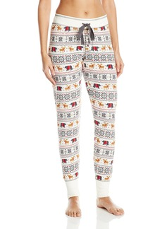 PJ Salvage Women's Mountains are Calling Print Jogger Pant  M