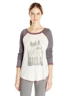 PJ Salvage Women's Mountains are Calling Raglan Shirt  L