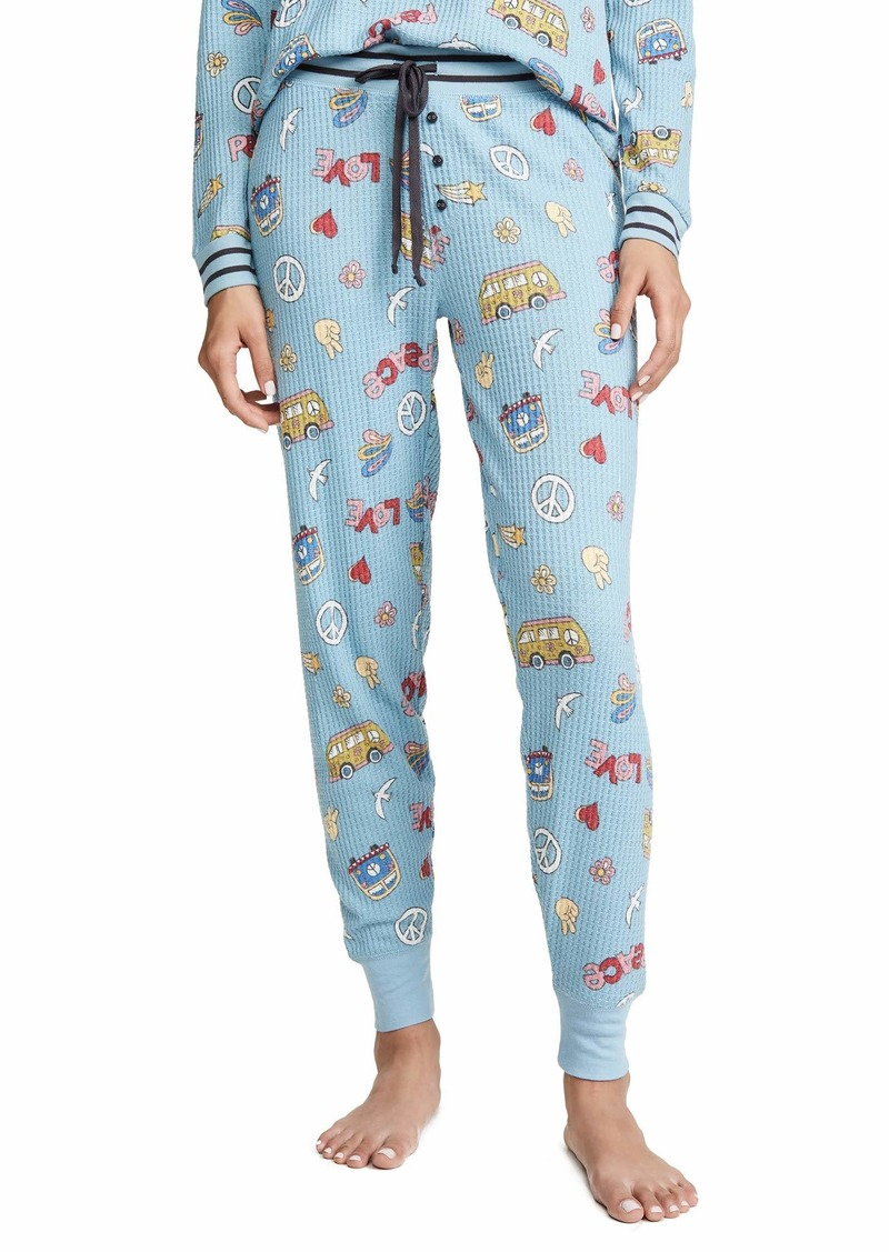 PJ Salvage Women's Peace & Love Pants