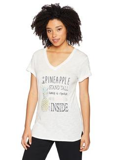 PJ Salvage Women's Playful Prints Pineapple Tee  L