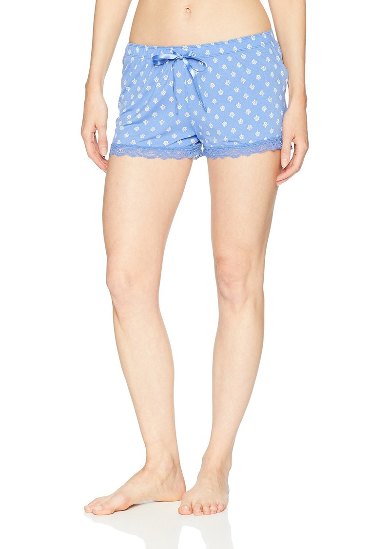 PJ Salvage Women's Printed Lounge Pajama Short Blue