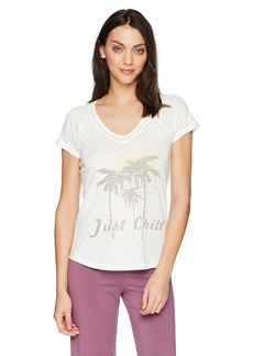 PJ Salvage Women's Revival Lounge Just Chill Tee  M