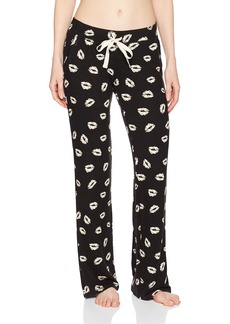PJ Salvage Women's Spread Love Lip Print Pant  S