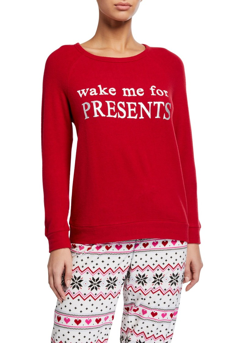 PJ Salvage Wake Me For Presents Lounge Top