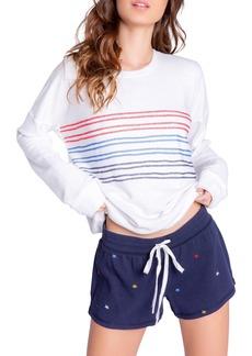 Women's Pj Salvage Morning Dreams Stripe Fleece Sweatshirt