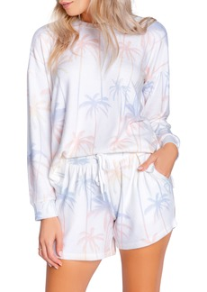 Women's Pj Salvage Palm Print Peachy Lounge Sweatshirt
