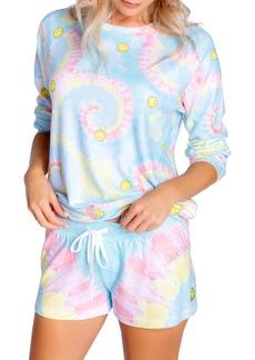 Women's Pj Salvage Smiley Tie Dye Sweatshirt