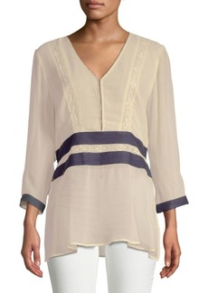 Plenty by Tracy Reese Contrast Kurta Blouse