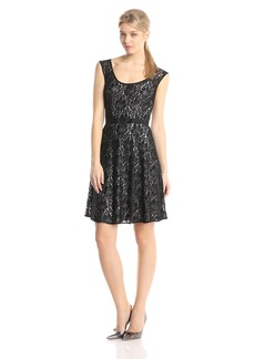 Plenty by Tracy Reese Dresses Women's Audrey Lace Sleeveless Fit and Flare Dress