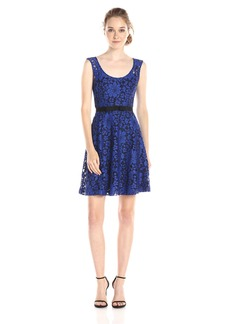 Plenty by Tracy Reese Dresses Women's Audrey Sleeveless Lace Fit and Flare Dress