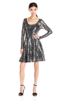 Plenty by Tracy Reese Dresses Women's Audriana Long Sleeve Scoop Fit and Flare Dress