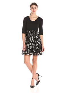 Plenty by Tracy Reese Dresses Women's Eliza Solid 3/4 Sleeve Top with Skirt