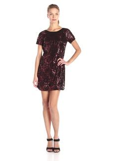 Plenty by Tracy Reese Dresses Women's Francesca Short Sleeve Mettalic Flocked Dress