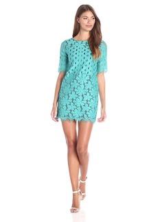 Plenty by Tracy Reese Dresses Women's Jaidynn Short Sleeve Lace Shift Dress