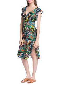 Plenty by Tracy Reese Printed Ruffle-Sleeve Dress