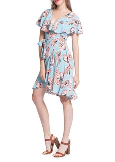 Plenty by Tracy Reese Printed Surplice Flounce Dress