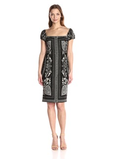 Plenty by Tracy Reese Women's Bandana Off The Shoulder Shift Dress