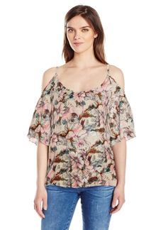 Plenty by Tracy Reese Women's Cold Shoulder Peasant Top  S