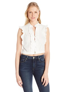 Plenty by Tracy Reese Women's Cropped Victorian Top  L