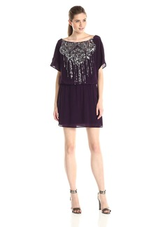 Plenty by Tracy Reese Women's Easy Party Shift Dress with Embellishment