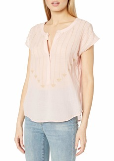 Plenty by Tracy Reese Women's Embroidered Henley  S