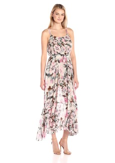Plenty by Tracy Reese Women's Flounce Hem Maxi Dress  M