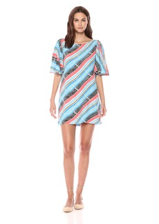 Plenty by Tracy Reese Women's Flounce Sleeve Shift  L