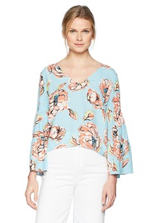 Plenty by Tracy Reese Women's Flounce Sleeve Top  XS