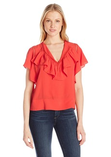 Plenty by Tracy Reese Women's Flounded Blouse  L