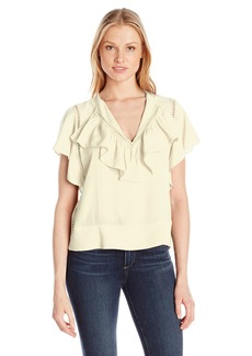 Plenty by Tracy Reese Women's Flounded Blouse  XS
