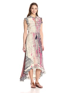 Plenty by Tracy Reese Women's High-Low Midi Dress  M