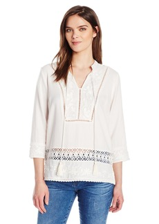 Plenty by Tracy Reese Women's Kurta Top Embroidered  M