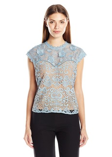 Plenty by Tracy Reese Women's Lace Combo Top  S