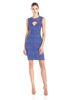 Plenty by Tracy Reese Women's Olivia Two Tone Jacquard Fit and Flare Dress