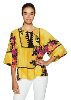 Plenty by Tracy Reese Women's Peasant Blouse  XSmall