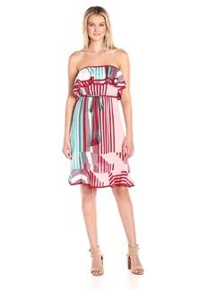 Plenty by Tracy Reese Women's Strapless Midi Dress  L
