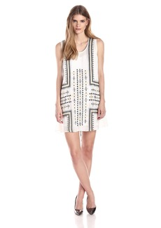 Plenty by Tracy Reese Women's Tribal Embroidered Flyaway Dress
