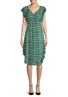 Plenty by Tracy Reese Ruffled Checkered Dress