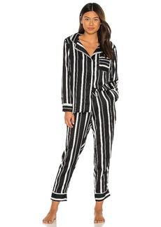 Plush Silky Stripe PJ Set