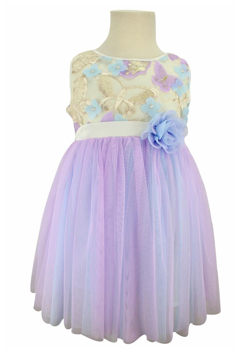 Popatu Butterfly Tulle Dress (Toddler Girls, Little Girls & Big Girls)