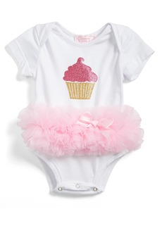 Popatu Cupcake Tutu Skirted Bodysuit (Baby Girls)