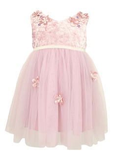 Popatu Embroidered Floral Tulle Dress (Toddler, Little Girl & Big Girl)