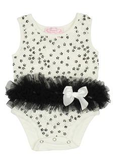 Popatu Embroidered Tutu Bodysuit (Baby)