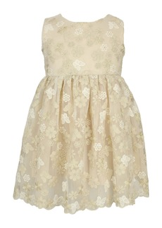 Popatu Floral Butterfly Embroidered Tulle Dress (Baby)