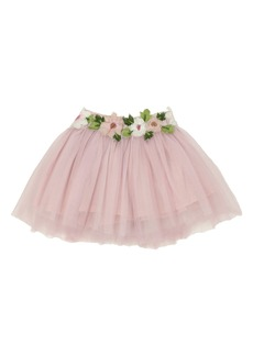 Popatu Floral Embellished Tulle Skirt (Toddler Girls & Little Girls)