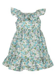 Popatu Floral Print Ruffle Collar Dress (Baby)